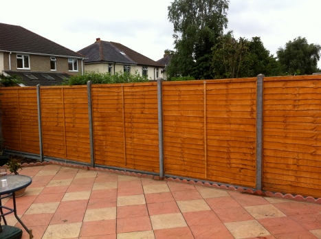 Installation of fence posts & panels