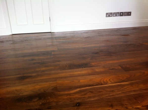 Sand down & stain solid wood floor