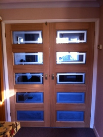 Hang interior glazed doors