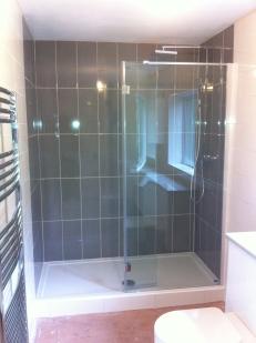Walk in shower & tiling