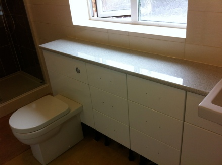 Complete bathroom installation