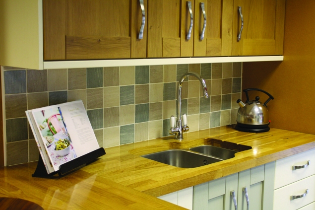Wal tiling & kitchen installation including solid wood worktops
