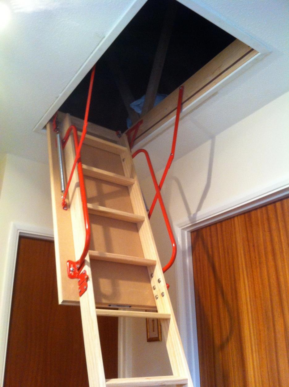 Installation of loft ladder, light & floor boards