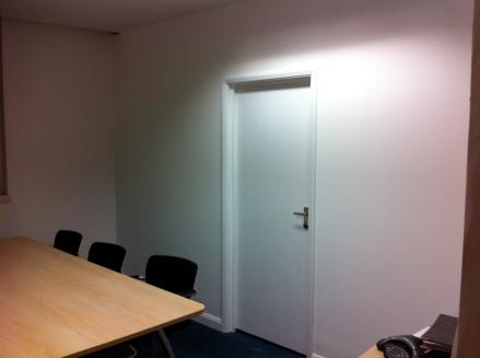 Create doorway in studwall including frame & hanging door