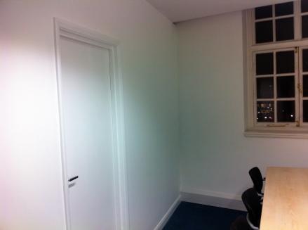 Construct stud wall & door in office space