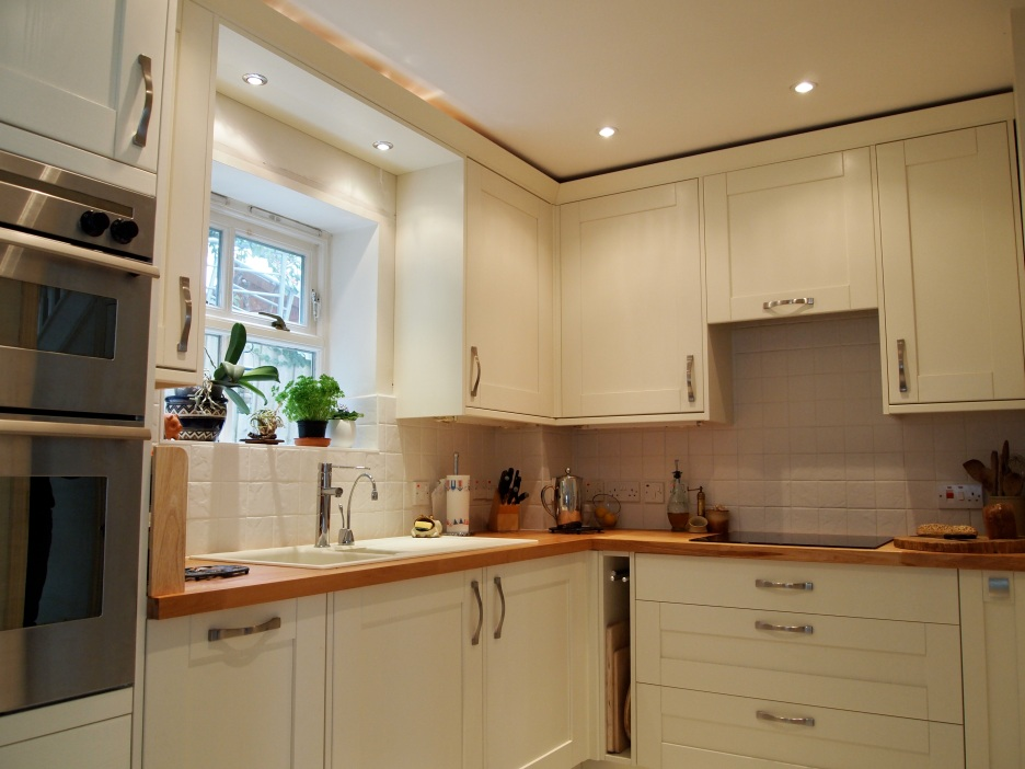 Complete kitchen installation including hardwood worktops